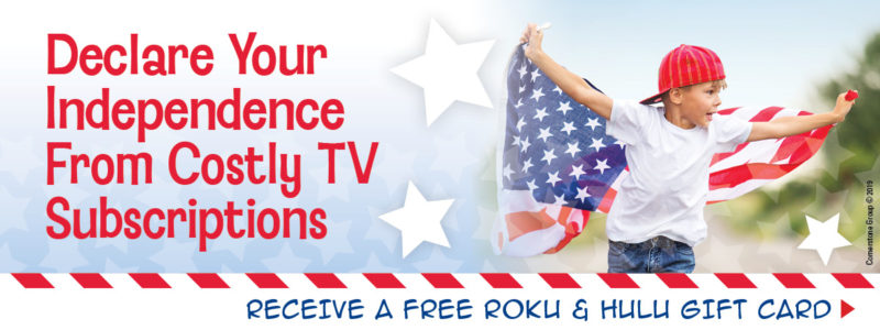 Receive a FREE Roku & Hulu Gift Card